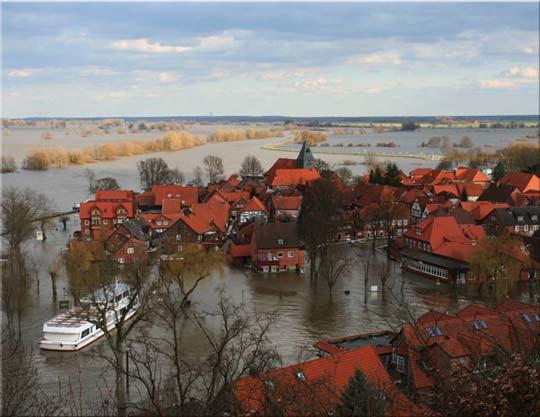 Klimawandel ... Schneeschmelze ... Überschwemmungen sind vorprogrammiert!